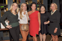 Nicole Klein celebrates her new status with her team and friends at Enoteca Tredici