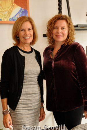 2. Sarah Van Aken paused for a photo with Tracey Gates before the luncheon and workshop began.