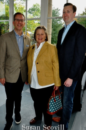 9. Rob Saxon of Mannna, his mother Linda Regnery and Blair Weikert enjoyed the event.