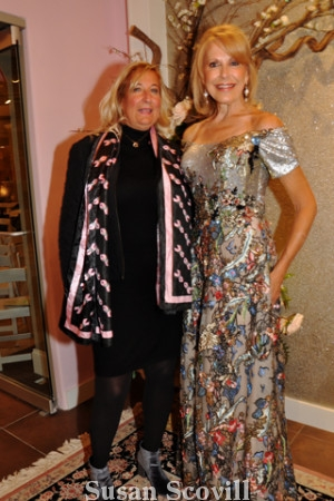 Christina Wagoner loved the gown that Sandra Yodesky modeled during the fashion show.
