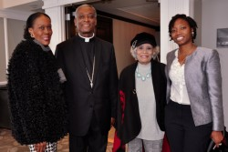 Cardinal Langlois of Haiti attends luncheon at The Pyramid Club