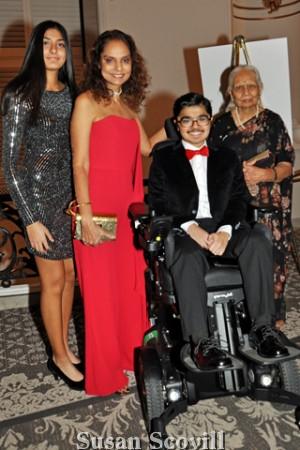 2. Jasmine and Sonal Gambhir and Hansa Shah were pictured with Yuva Gambhir