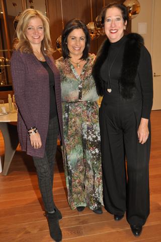 2. Karen Buchholz, Dr. Pauline Burgener and Mary Doughert of Nicole Miller,y.