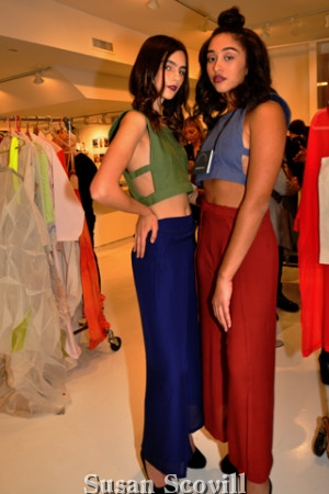 2. Stephanie Scheuermann and Bianca Robinson modeled clothing throughout the evening.
