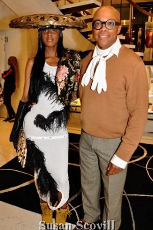 7. Tachiana Lewis wore one of Conrad Booker's unique creations.