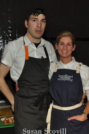 4. Billy Riddle and Jen Carroll of Spice Finch created samples from their menu for the gala dinner guests.