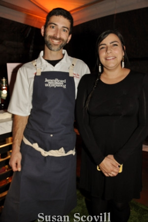 9. Federal Donuts Dessert Reception Chef Matthew Fein paused for a photo with Lauren Correa.