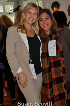 5. Tourgoers Andrea Fanfera Drucquer and Kim Wright enjoyed the event.