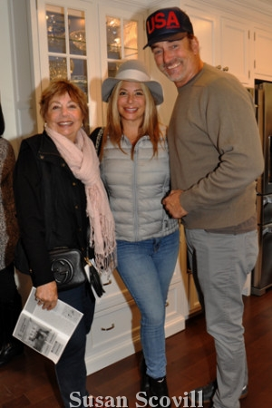 9. Heather and Florence Maloumian and Michael Jenkins were pictured on the kitchen tour.
