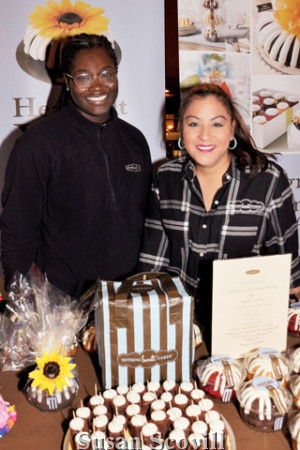 5 Jernise Ayers and Kim Wright of Nothing Bundt Cakes rempted luncheon guests with cake samples!