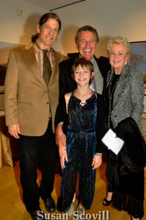 17. Steve Tobin and his daughter Sienna and Julian and Tina Krinsky.