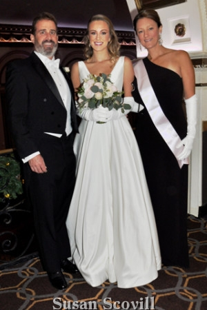 6. Matthew and Courtney Naylor and their daughter Debutante Heather Naylor.