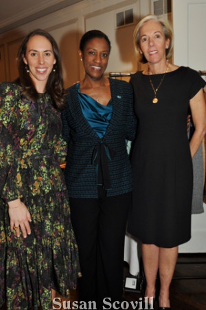 Clark Kuenzell, Monica Taylor and Women's Committee president Elizabeth Kuenzell paused for a photo during the event.
