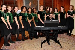 Commonwealth Youthchoirs supporters attend an evening in the childhood home of Grace Kelly