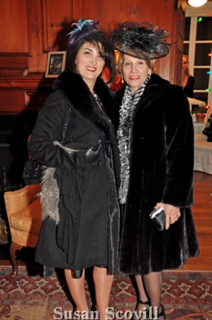 14. Cocktail/Old Hollywood Glam was the event's theme, so guests dressed for a 1940's-style night out! Cari Ghezarian and Clara Andonisn wore their best 1940's garb.