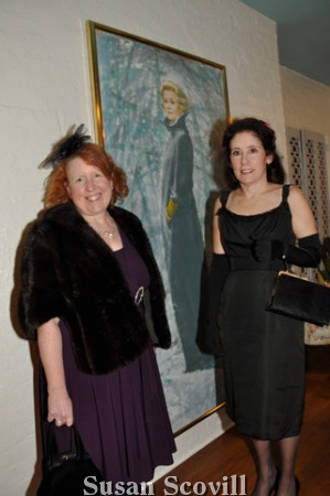 9. Kathy Loomis and Susan Rheingold admired the Grace Kelly portrait hanging in the sun room.