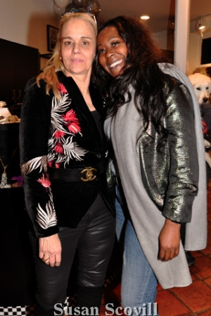 9, Jillian Dunn welcomed Hair Salon owner and stylist Terra Moné to the party.