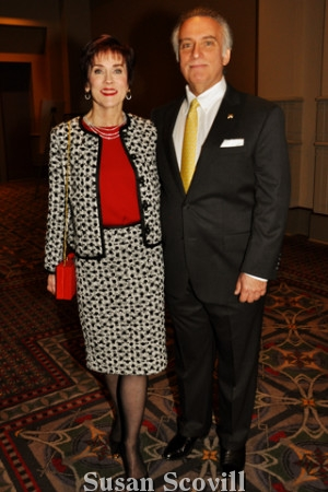 2. Dr. Robert Rosenwasser was the honoree. He was pictured with his wife Dr. Deborah August.
