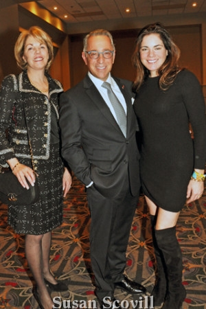 7. Executive Vice President & Chief Advancement Officer Elizabeth Dale, paused for a photo with Ellen Rohlfing and ark Nicoletti.