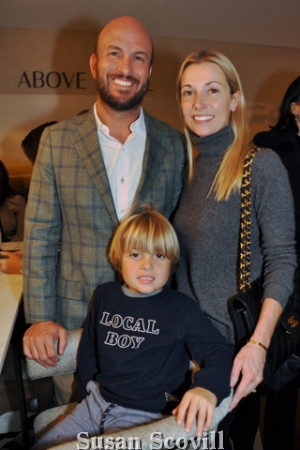 12. Tom and Alison Petrelli brought their son Paco to the party.