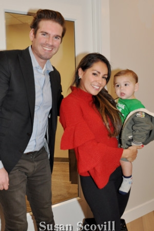 15. Black Label's Billy Walsh said hello to Adriana Wellar and her son Kenny IV.