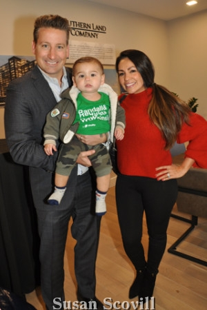 8. Ken and Adriana Wellar brought little Kenny IV to the party.