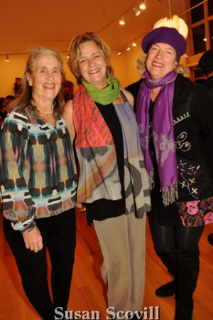 7. Gerry Tuten, Maria Archer and Helen Labelle shared a moment during the preview party.