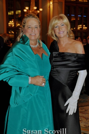 2. Honorary chair and former Academy Ball co-chair Anne Hamilton chatted with 2020 ball co-chair Lisa Buckingham during the reception held in the Academy of Music's Ballroom.