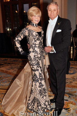 flo Cerlender dazzled in her Aademy Ball gown. Rick was pictured with her. Celenda