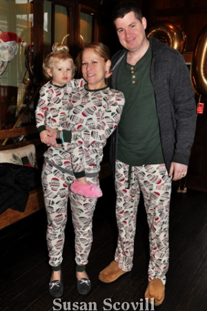 2. Vera and Zach Fletcher brought Brooke to the pajama brunch.