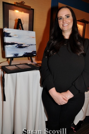 "11. Andrea May of Abstract Dream Designs was a vendor at the event. The art piece in the photo is called ""Wayne Dreams"""