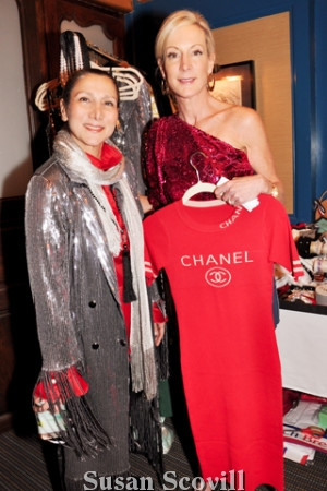 14. Conni McDonnell of Touchê Accessories was pictured with Peggy Conlon who loved this dress with its Chanel emblem on it! The dress is available at Touchê in the King of Prussia Mall.
