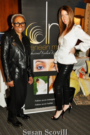 3. Deneen Marcel of Deneen Marcel Eyelashes has studios in Philadelphia and Bryn Mawr! Deneen shared her eyelash expertise with attendes at the Autograph Galantine event. She was pictured with Public Relation Guru Leslie Gross-Padilla.