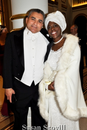 2. Jaime Barbhuraj-Amayio and DeeDee Mitchelle-Amayio attended the St. John's Masonic Ball