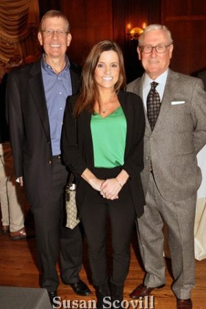2. Scott MacColl and Caroline Dentino chatted with Bill Lloyd.