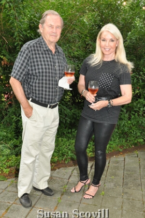 2. Dennis Adams and Sara Cerato enjoyed cocktails on the terrace