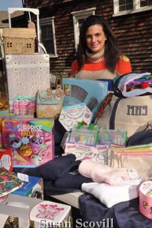 8. Melissa Sinni of The Blue Beret brought a huge collection of goods to the event.