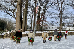Jeptha Abbott Chapter hosts 'Wreaths Across America' at the Old Eagle School Graveyard