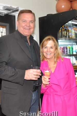 10. Kevin and Denise Duffy toasted the opening event.