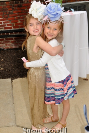 6. Cousins Molly McGlade and Heidi Nicholas modeled these chapeaus!