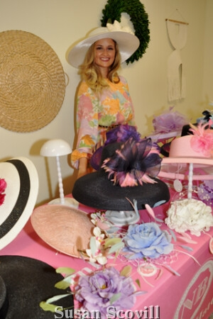 9A Northern Belle Hat Company owner Kelly La Forgia brought her unique collection of hats and fascinators to the event.