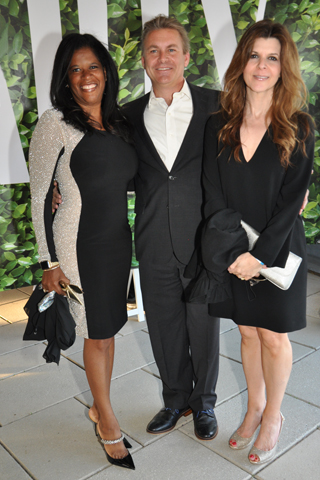 2. Sonya and Mark Weigle and Francesca Molinari attended the popular event