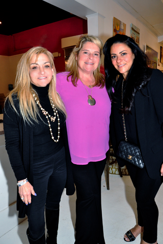9. Queens Table partner, Donna Martella of BellaDONNA Gifts, Meredith Coyle, Queens Table Principle, chatted with Dimitra Bottos whose family owns Berwyn Pizza