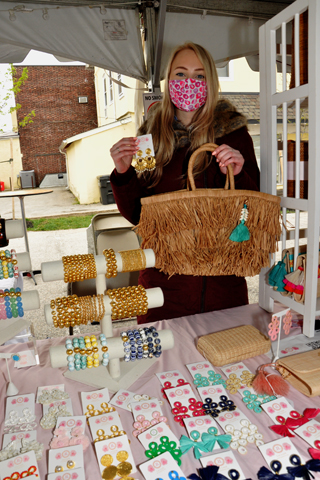 4. Abby Harris sold Lisi Lerch jewelry items at the event.