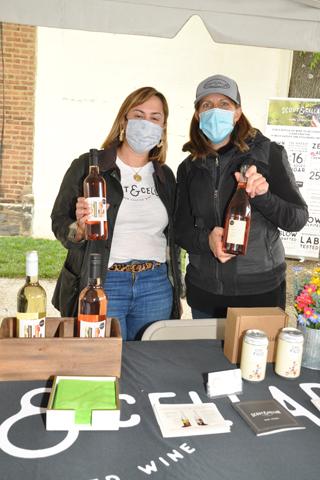 6. Haley Erdlen and Regan Kreszwick sold a variety of wines