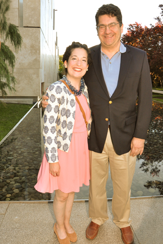 6. Julia Dolinger and her father Neil Dolinger paused for a photo.