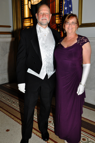 Joseph M. Jensen, District Deputy Grand Master and his wife Maggie attended the event.