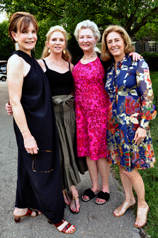 5. Libby Trammell, Sarah Marshall, Alice Donavin and Billie Bailkin attended the event.