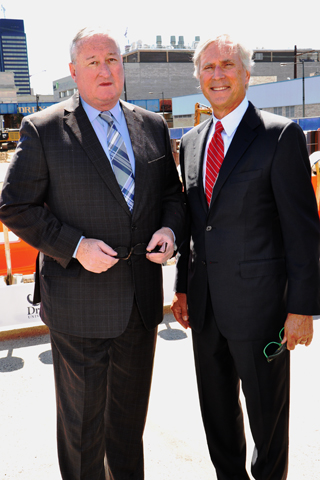 2. Philadelphia Mayor Jim Kenney paused for a photo with Jerry Sweeney, CEO of Brandywine Realty Trust during the event.