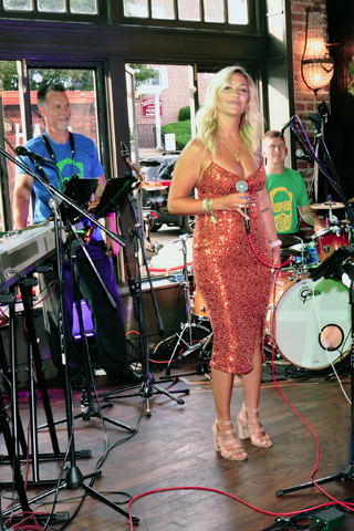 A six-piece band entertained the invitation-only crowd.
